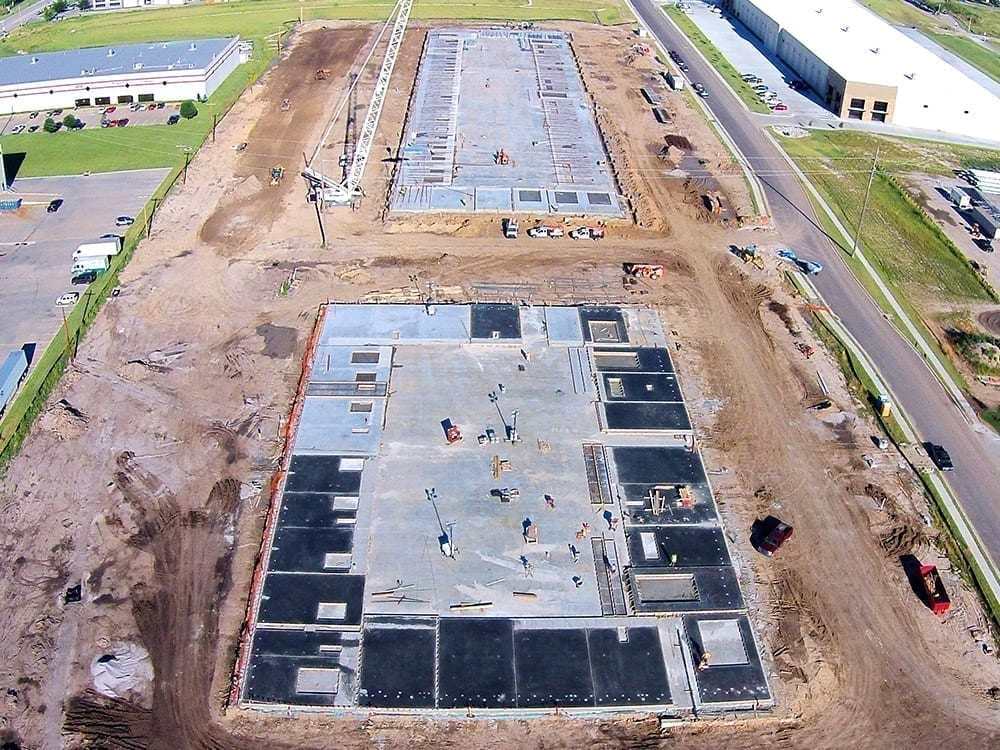 laying the foundation for the Centergate facility
