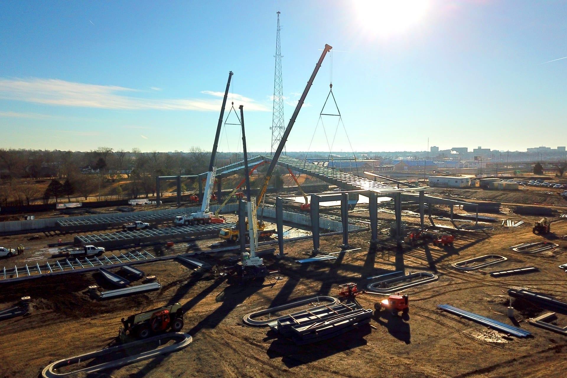 BMX headquarters being assembled
