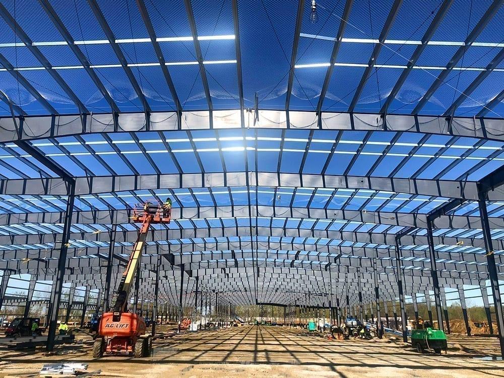 inside shot of reefer trailer plant steel assembly