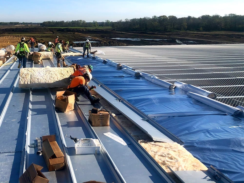 roofing a reefer trailer plant